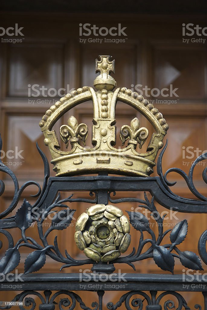 Gold Crown Vertical stock photo