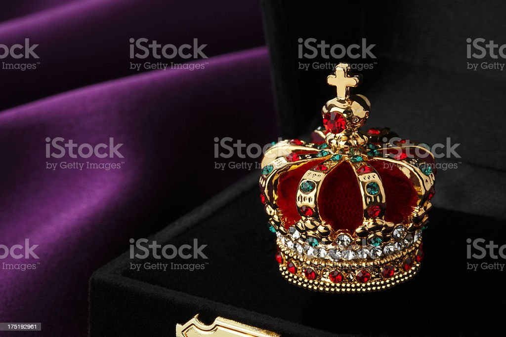 Gold crown with jewels royalty-free stock photo