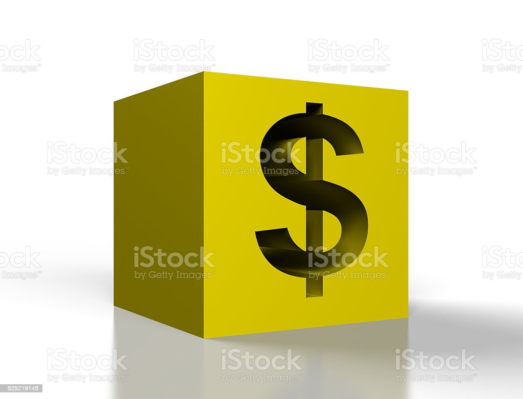 gold cube stock photo