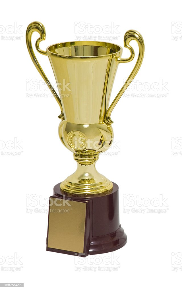 gold cup trophy royalty-free stock photo