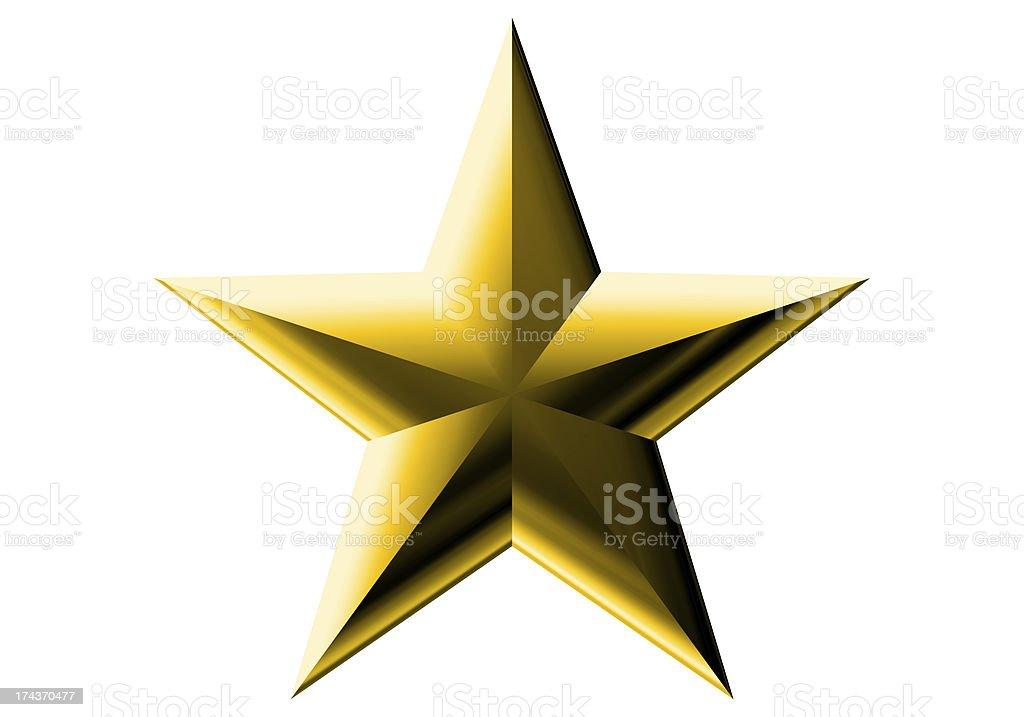 gold decoration star royalty-free stock photo