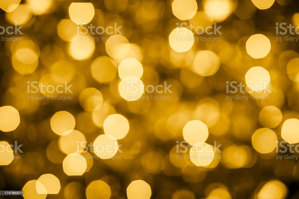 Gold defocus lights royalty-free stock photo