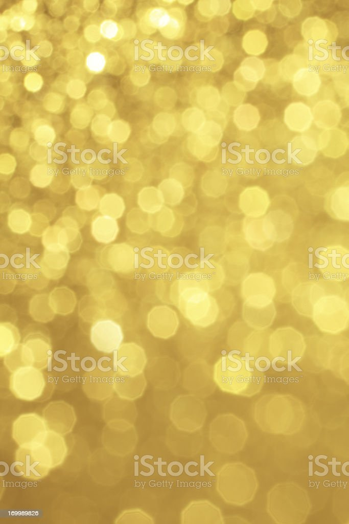 Gold Defocused Glitter royalty-free stock photo