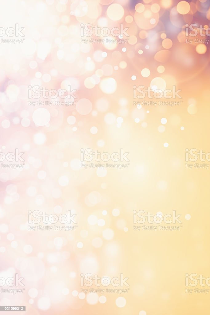 Gold defocused glitters and lights background stock photo