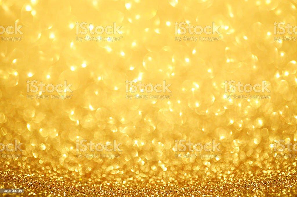 Gold defocused lights background stock photo