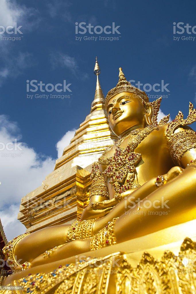 Złoty szczegóły Doi Sutep, Świątynia w Chiang Mai, Tajlandia zbiór zdjęć royalty-free