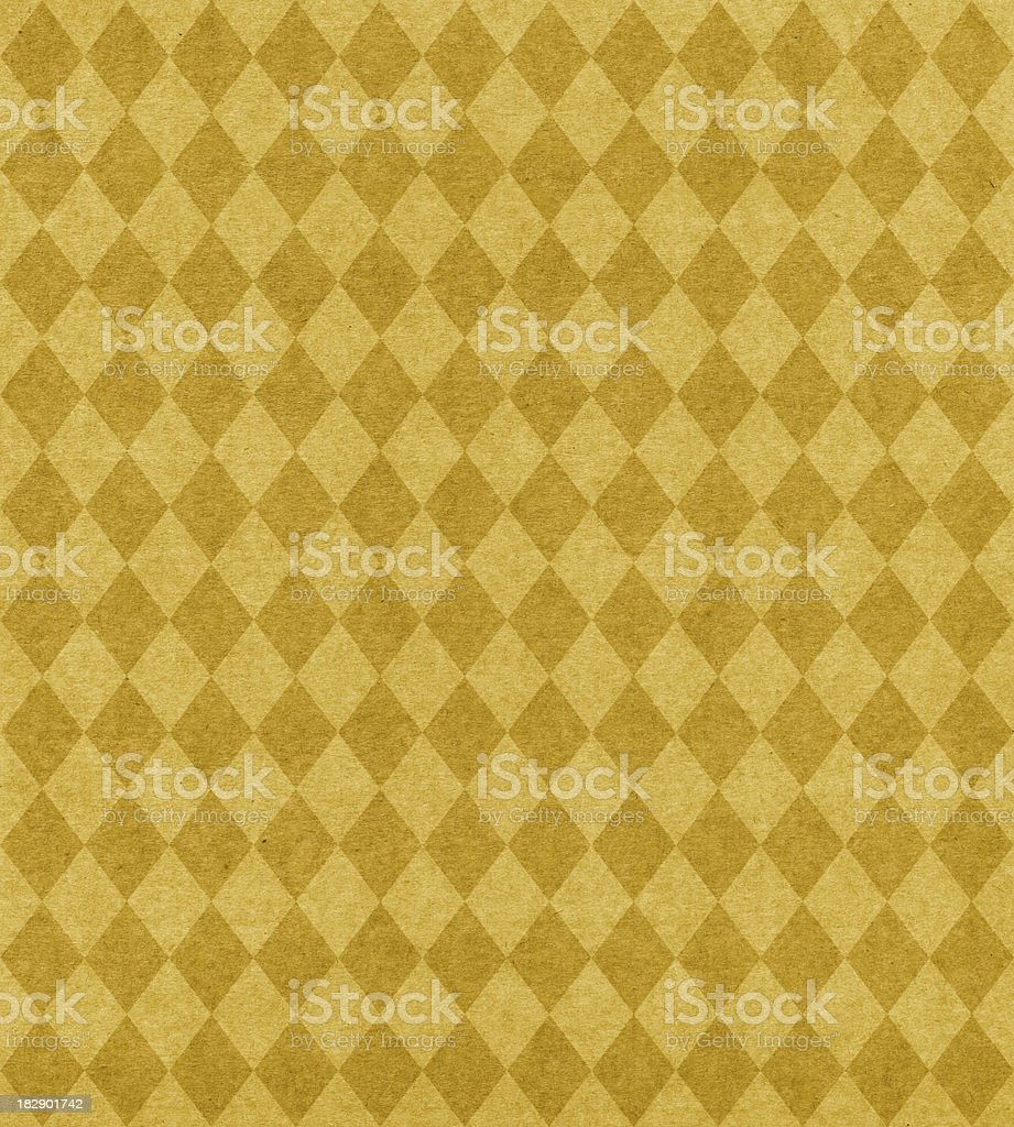 gold diamond pattern paper stock photo