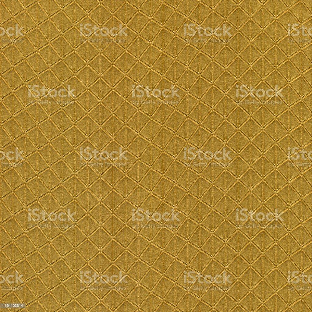 Gold Diamond Pattern Wallpaper royalty-free stock photo