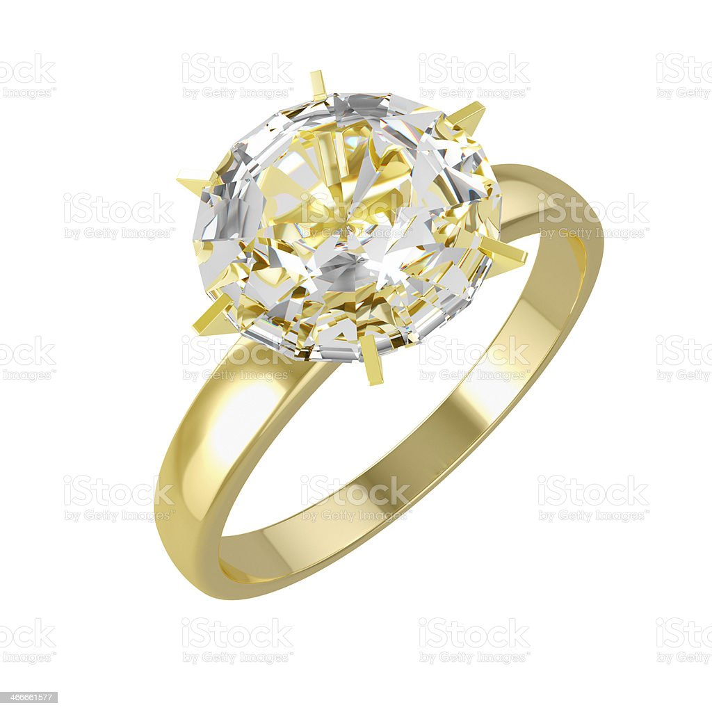Gold Diamond Ring royalty-free stock photo