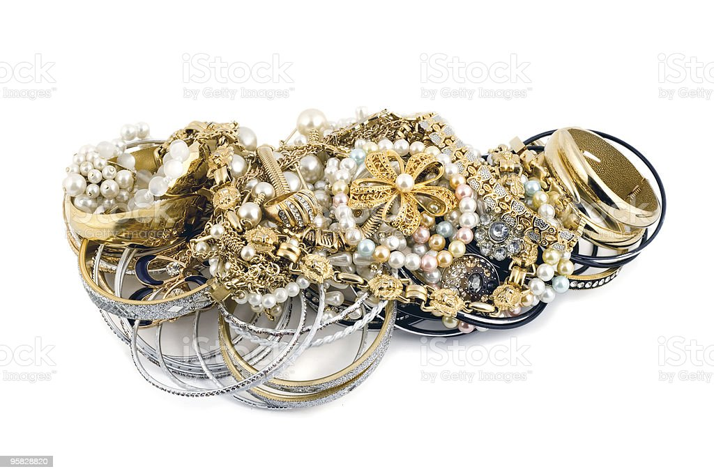 gold diamonds royalty-free stock photo