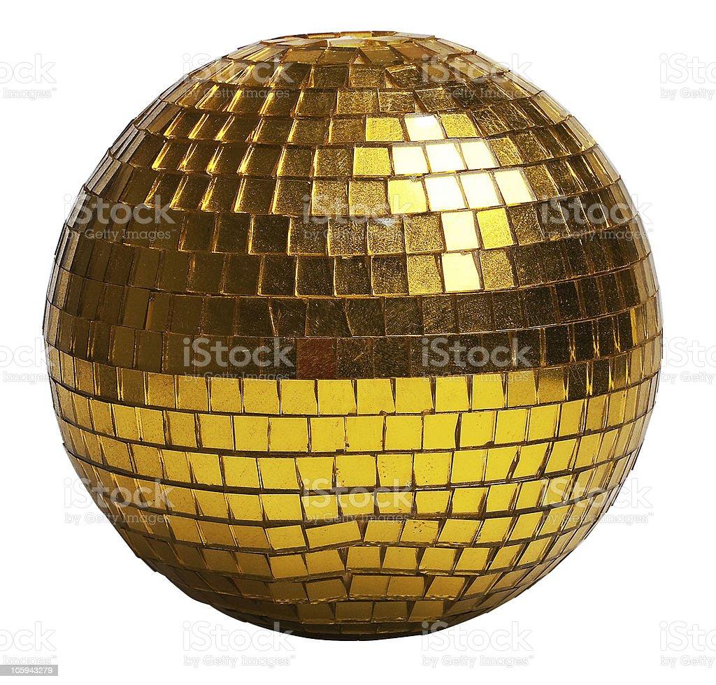 discoball oro foto de stock libre de derechos