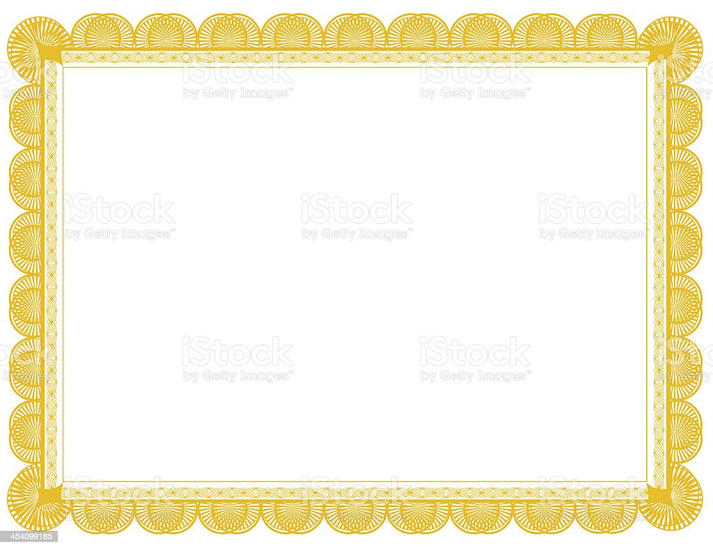 Gold Document Frame 8.5 x 11 stock photo