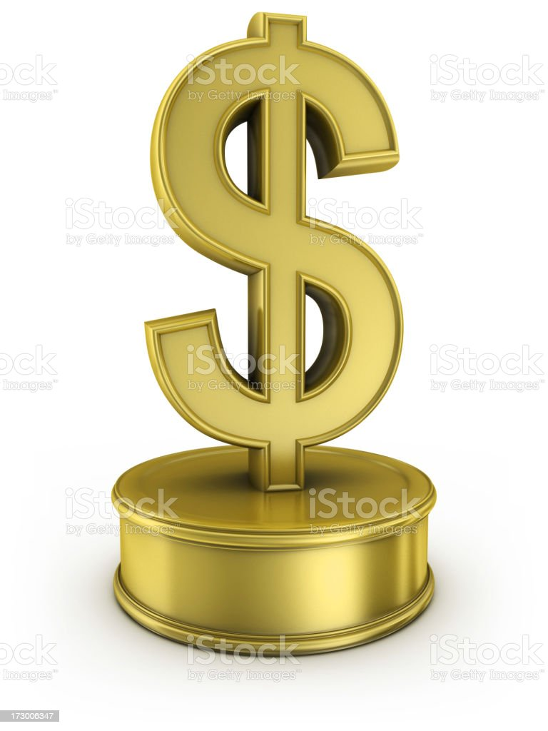gold dollar award royalty-free stock photo