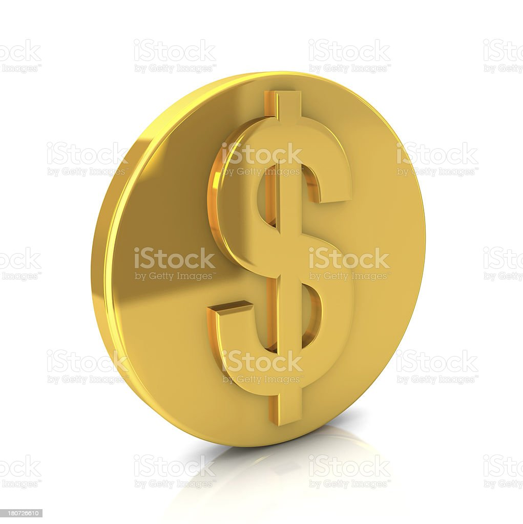 Gold Dollar Coin royalty-free stock photo
