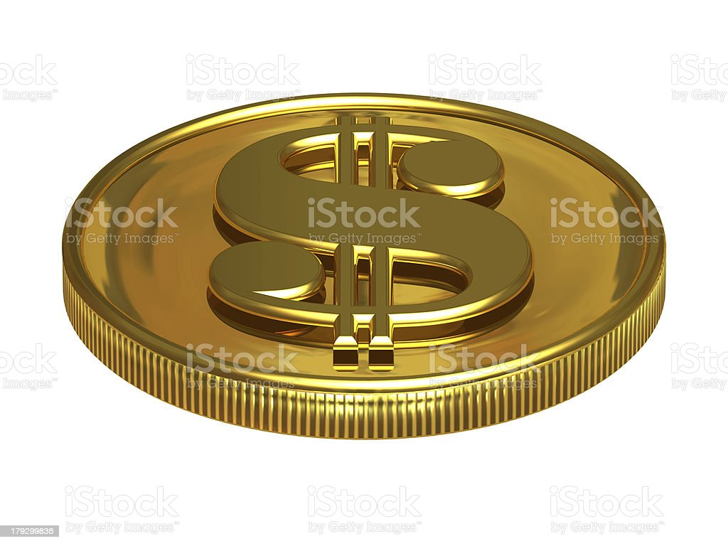 gold dollar royalty-free stock photo
