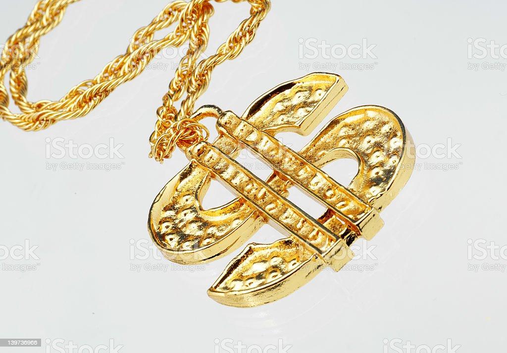 Gold Dollar Sign royalty-free stock photo