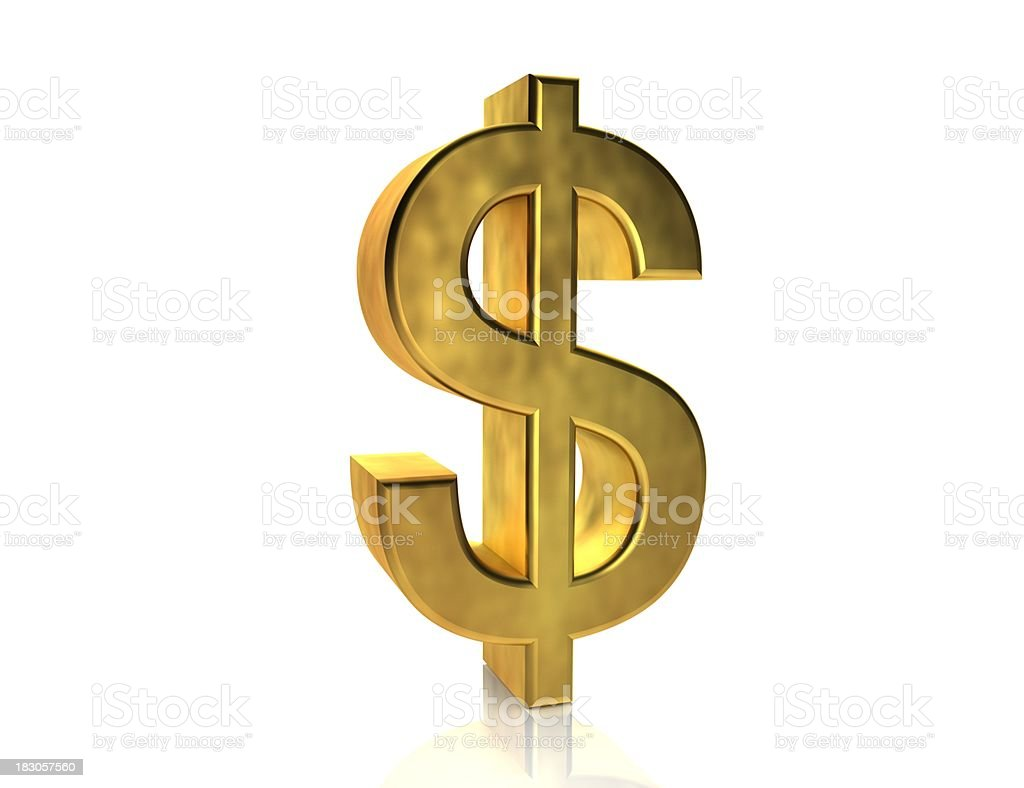 Gold Dollar Sign stock photo
