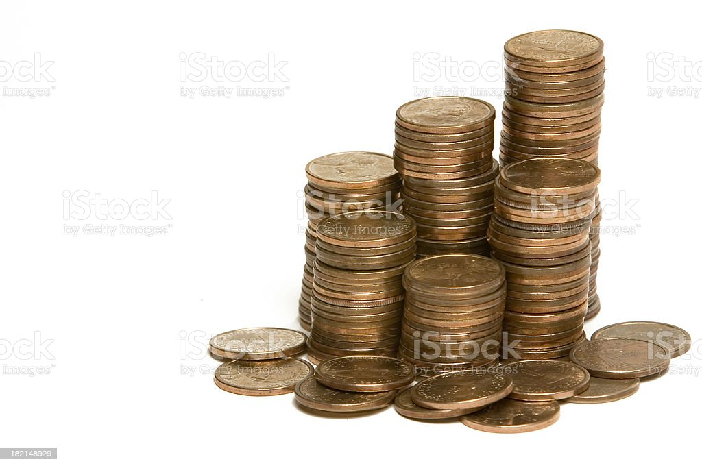 Gold Dollars royalty-free stock photo
