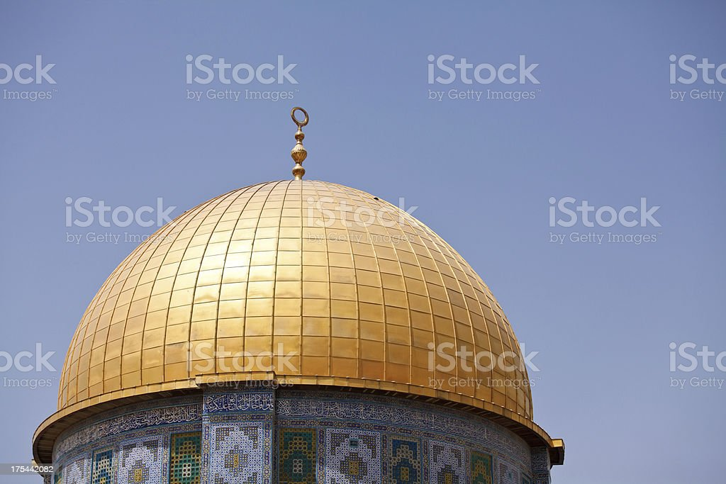 Gold Dome of Temple Mount in Jerusalem royalty-free stock photo