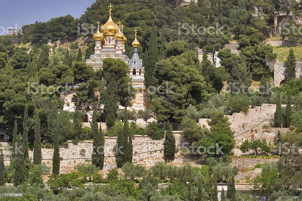 Gold domes. royalty-free stock photo