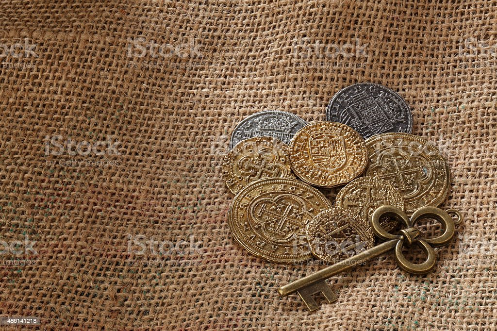Gold Doubloons stock photo