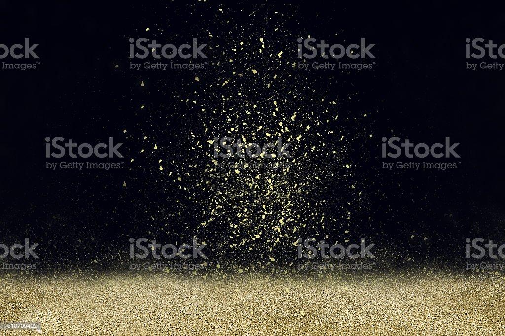 Gold dust stock photo