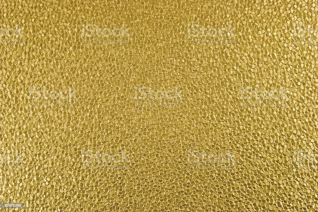 Gold Dyed Hand-Made Paper Textured Background royalty-free stock photo