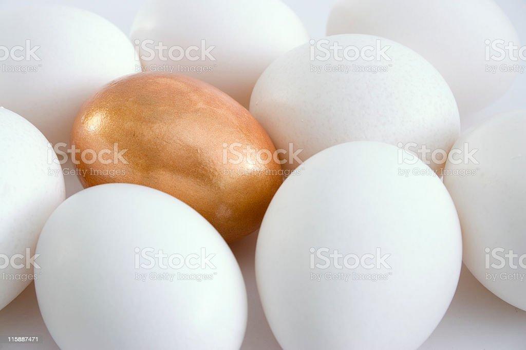 Gold egg royalty-free stock photo