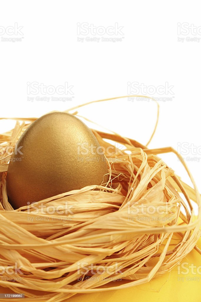 Gold egg royalty-free stock photo