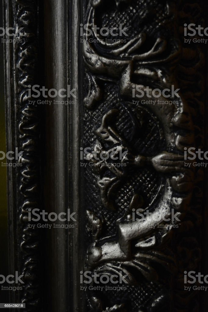 gold embossed pattern stock photo