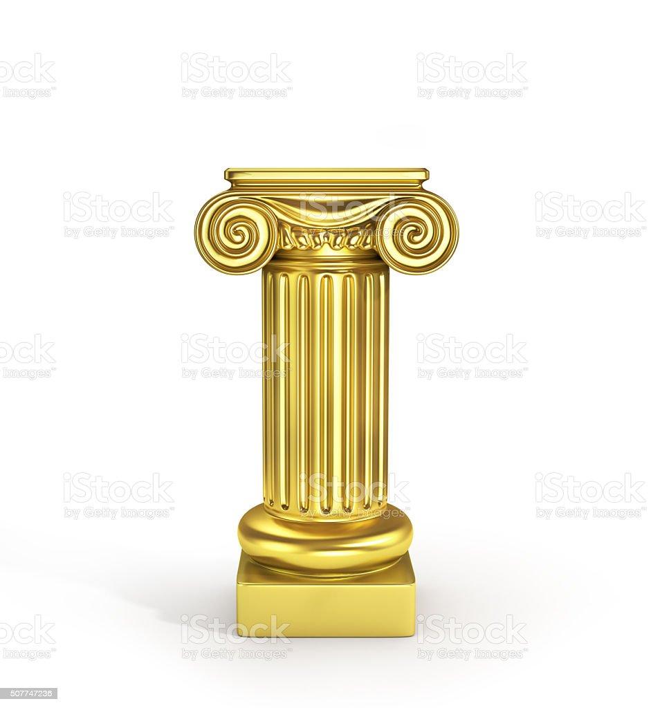 Gold empty column pedestal stock photo