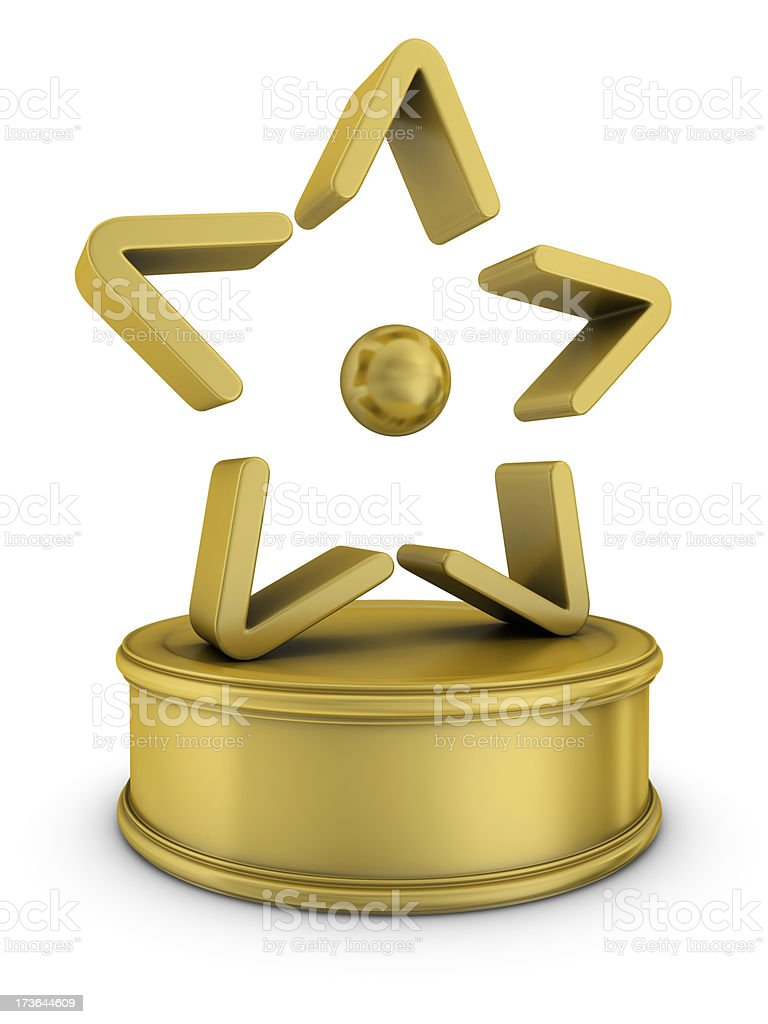gold entertainment award royalty-free stock photo