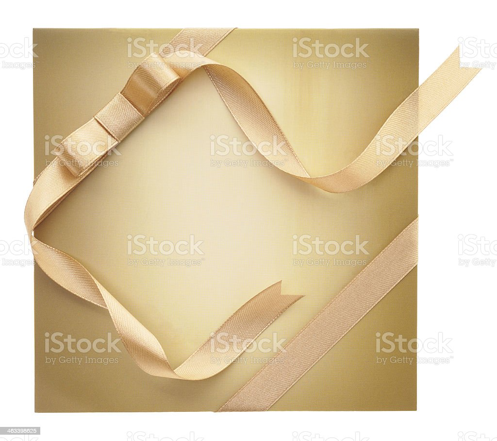 Sobre con cinta de oro foto de stock libre de derechos
