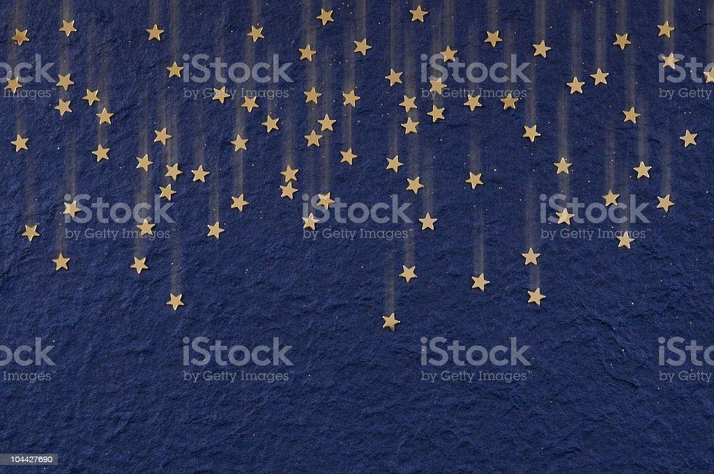 Gold Falling Stars stock photo