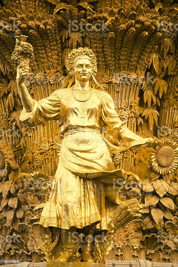 Gold female statue royalty-free stock photo