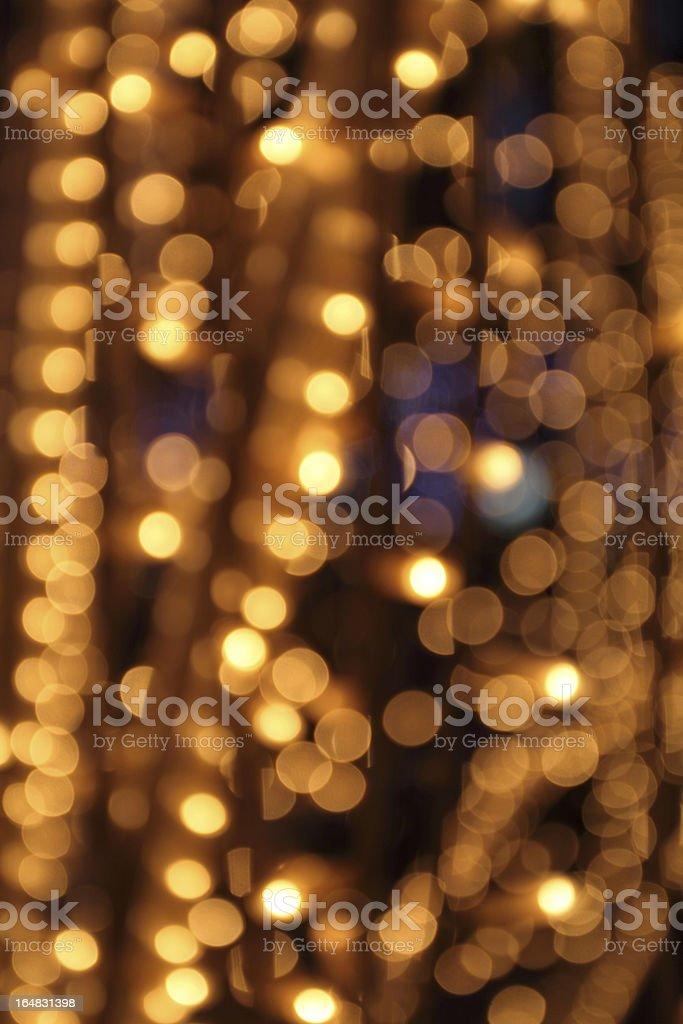 gold festive lights royalty-free stock photo