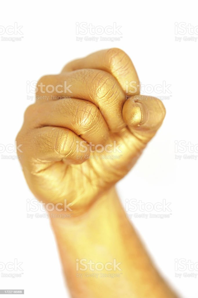 Gold Fist royalty-free stock photo