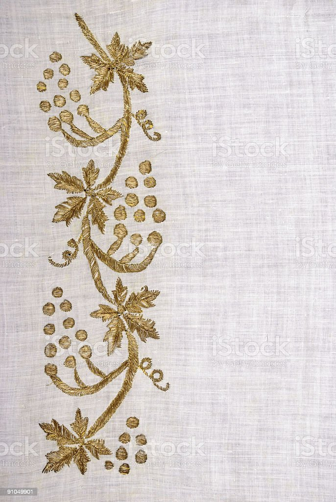 Gold Flowers royalty-free stock photo