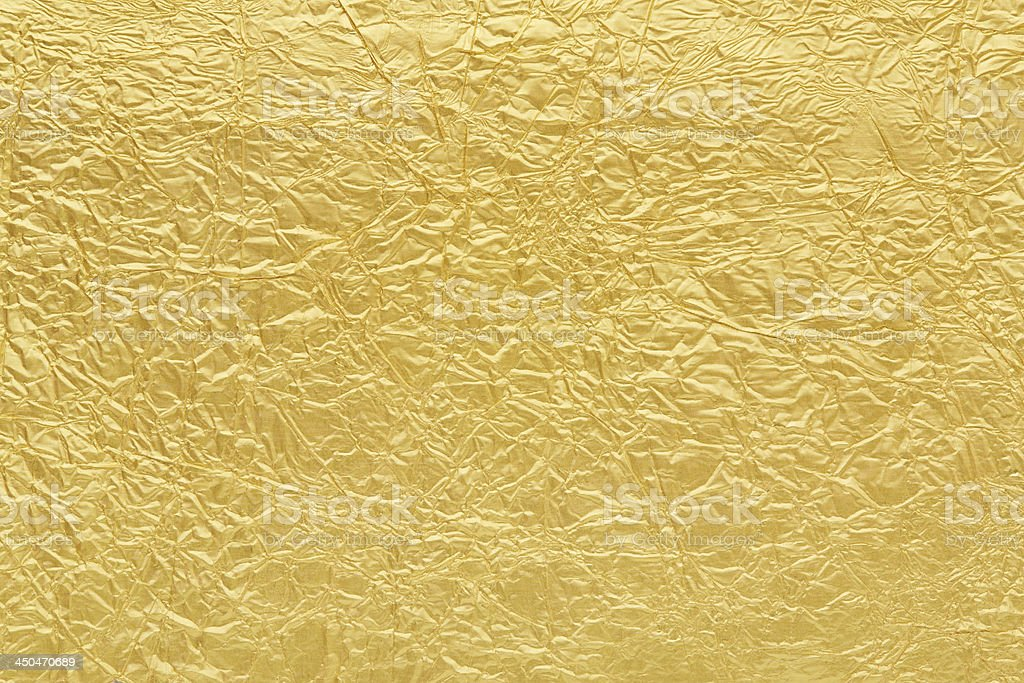Gold foil background texture stock photo