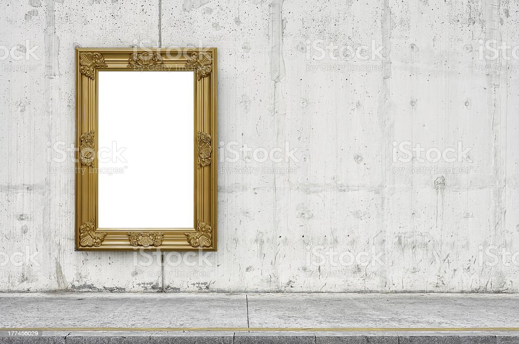 Gold Foil Billboard on Wall XXL royalty-free stock photo