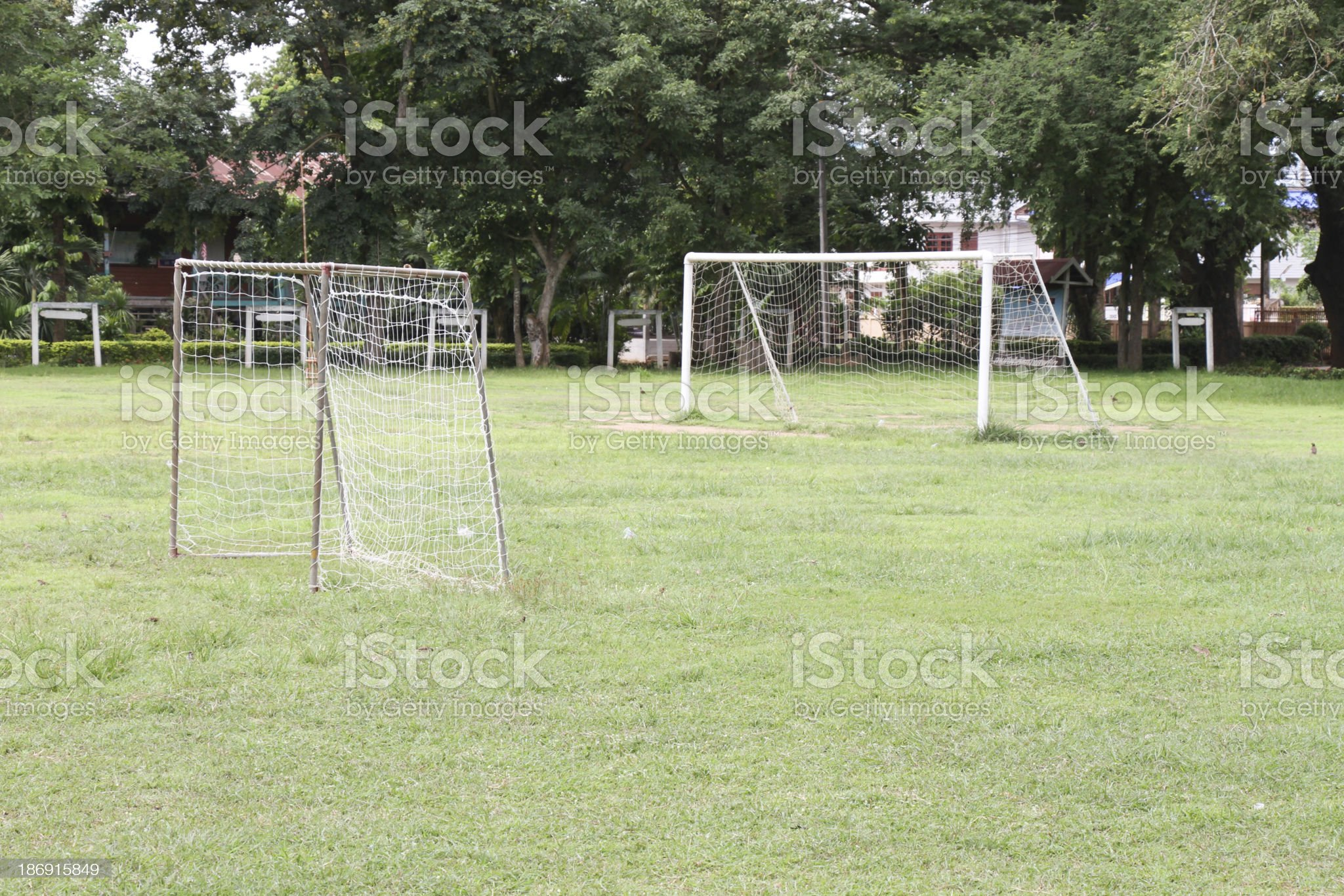 gold  football field in olded city royalty-free stock photo