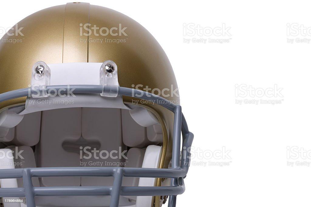 Gold football helmet stock photo