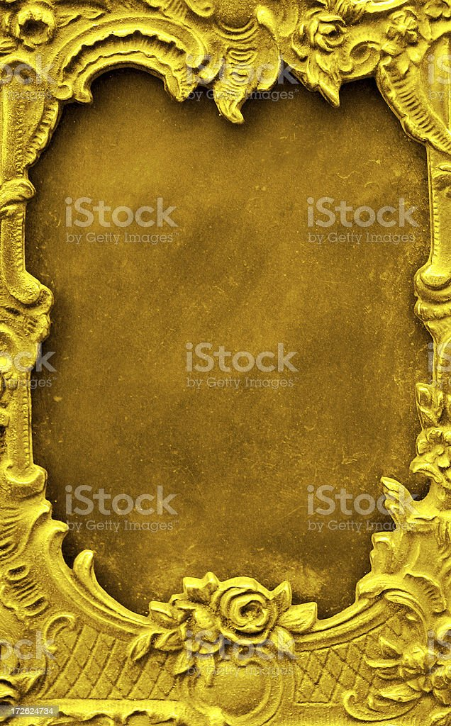 gold frame box stock photo