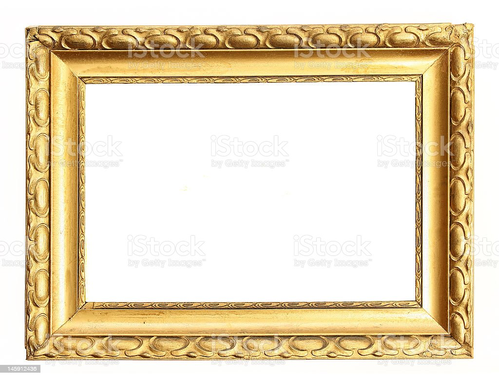 gold frame clipping path royalty-free stock photo