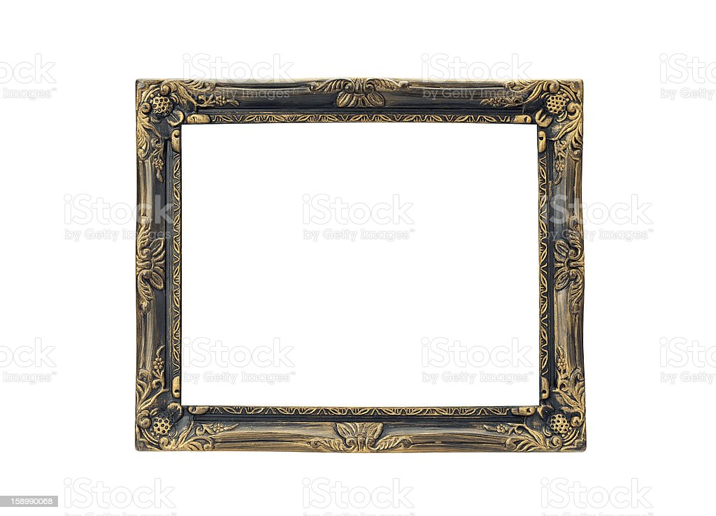 gold frame isolated on the white background with clipping path royalty-free stock photo