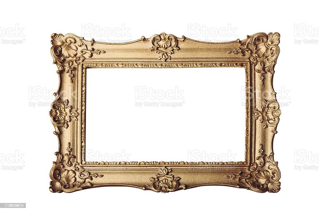 gold frame on white stock photo