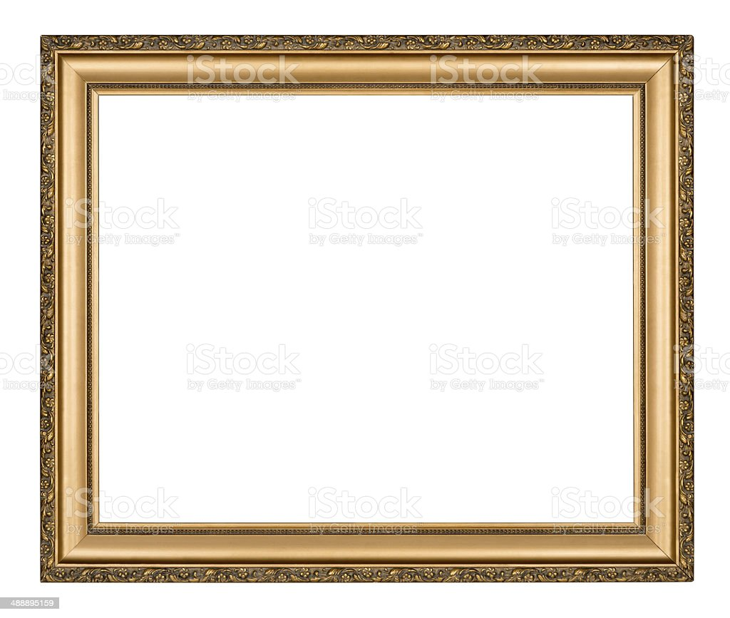 Gold frame stock photo
