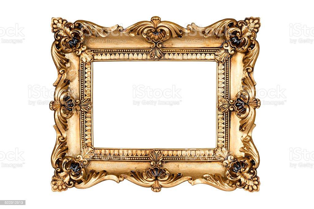 Gold frame stock photo