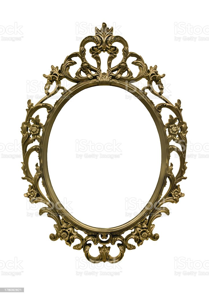 Gold frame victorian royalty-free stock photo