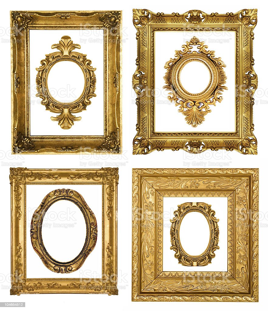 Gold frames stock photo